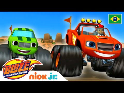 (HD) Salvando o dia 😀 | blaze and the monster machines