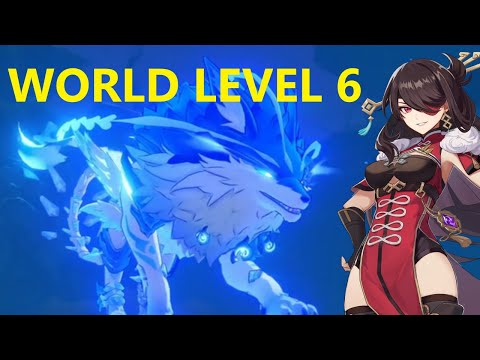 (New) Beidou solo vs wolf of the north [world level 6] | genshin impact