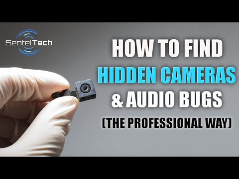 (HD) How to find hidden spy cameras and audio bugs (the professional way)