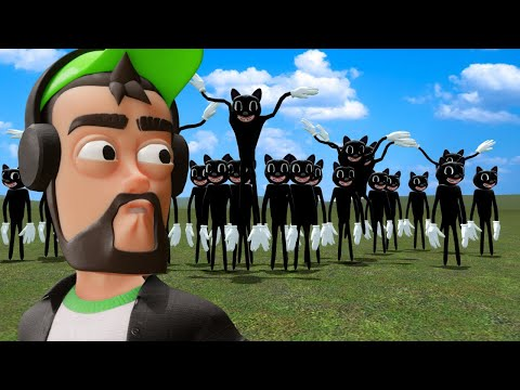 (New) Building a base to survive thousands of cartoon cats in gmod?! (garrys mod)