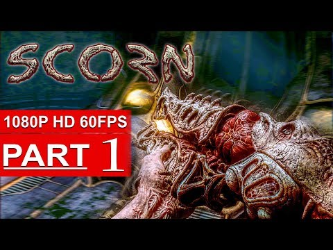 (New) Scorn gameplay walkthrough part 1 (alpha demo) [1080p hd pc] new 2017 horror game