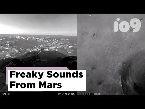 (HD) The first sounds of mars are kind of freaky