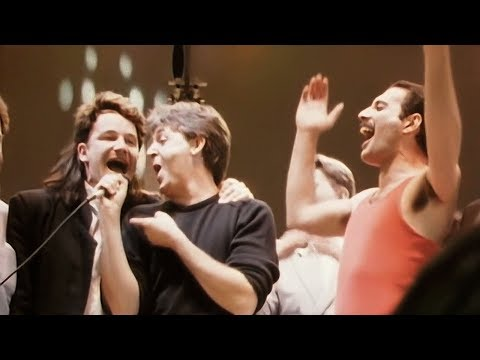 (New) Live aid 1985 - do they know its christmas (film camera source)