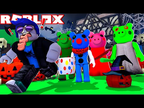 (HD) Roblox piggy funny moments 🎃halloween special🎃
