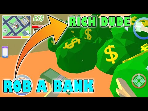 (New) How to rob a bank? in dude theft wars - gameplay 14 fhd (android)
