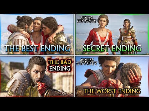 (New) Assassins creed odyssey ► how to get all endings (secret, best, bad e worst)
