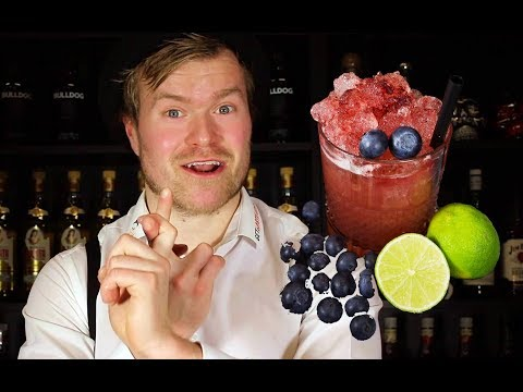 (HD) The best gin cocktail with blueberries!