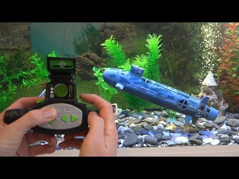 (HD) Radio boat with radio control with dynamic immersion system (rc submarine)