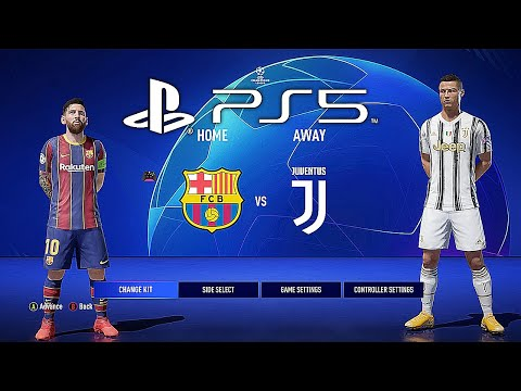 (New) Fifa 21 ps5 fc barcelona - juventus | mod ultimate difficulty career mode hdr next gen