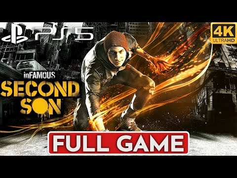 (New) Infamous second son ps5 gameplay walkthrough full game [4k 60fps] - no commentary