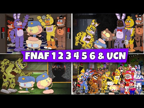 (New) Maratona mongo e drongo em five nights at freddys 1 2 3 4 5 6 e fnaf ultimate custom night