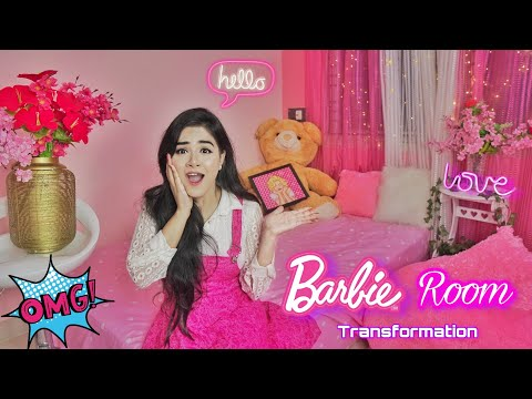 (New) Transforming my room in a *barbie room* in 24 hour | *shocking makeover* | room tour 2021