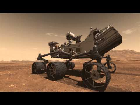 (New) Mars science laboratory curiosity rover animation