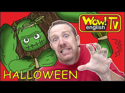 (Ver Filmes) Halloween spooky haunted dollshouse for kids from steve and maggie | learning wow english tv story