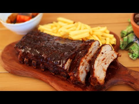 (New) Costelinha do outback com molho barbecue | fácil - todas as dicas | ribs on the barbie -dika da naka