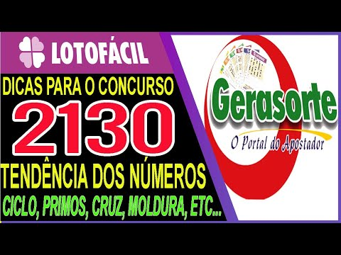 (New) Lotofacil 2130 dicas e analise canal gerasorte