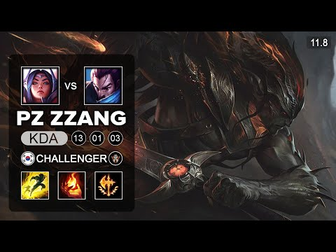 (New) Pz zzang yasuo mid vs irelia - kr challenger patch 11.8