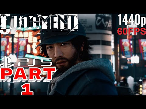 (New) Judgment ps5 next gen gameplay walkthrough part 1 60fps 1440p no commentary