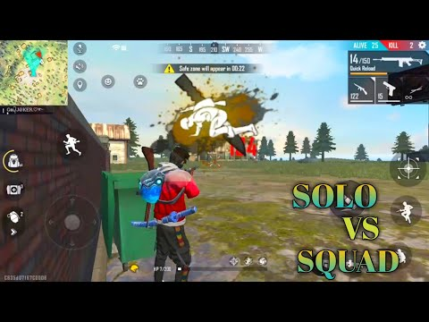 (New) Solo vs squad gameplay free fire easy booyah with tips and tricks.