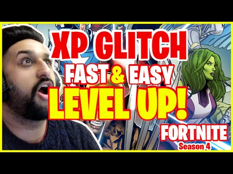 (New) How to get unlimited xp *glitch* easy e fast (level up quick) in fortnite season 4