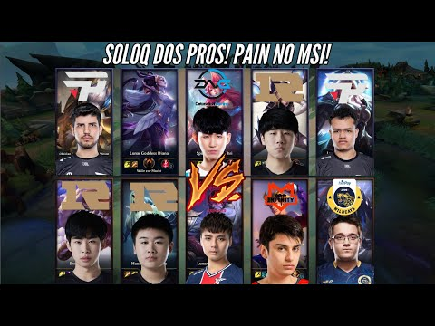 (New) Robo vs top e jg da rng, soloq dos pros europa! pain no msi!