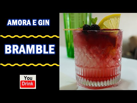 (HD) Bramble - cocktail com gin e amoras - (dick bradsell)