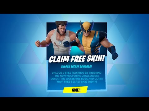 (New) Claim free skin now! wolverine challenges (fortnite battle royale)