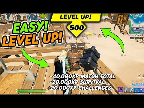 (New) How to level up fast in fortnite season 4   best method for unlimited xp