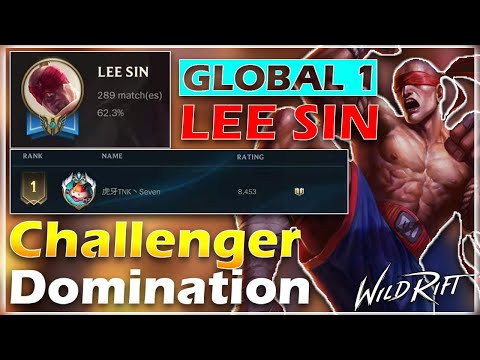 (VFHD Online) Global 1 lee sin challenger gameplay | wild rift