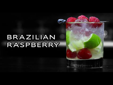 (HD) How to make the brazilian raspberry - a subscriber cocktail recipe
