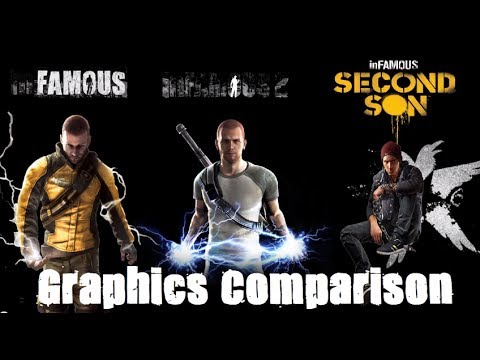 (New) Infamous second son - graphics comparison - complete saga - ps3 vs ps4 hd 2014