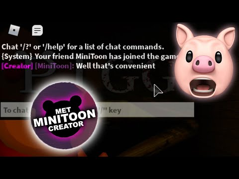 (HD) Minitoon joined my game!! | roblox piggy build mode