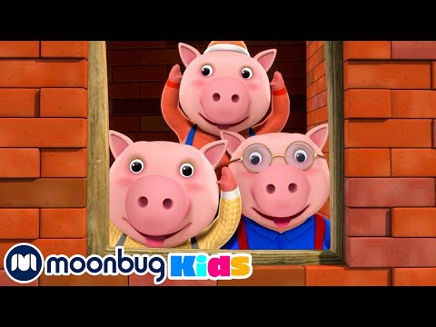 (New) Three little pigs | lbb songs | sing with little baby bum nursery rhymes - moonbug kids