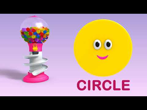 (Ver Filmes) Learn shapes with color gum balls - shapes videos collection for children