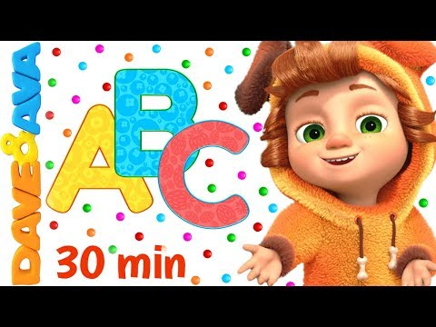 (New) 🐭 abc song + more nursery rhymes e kids songs | dave and ava 🐭