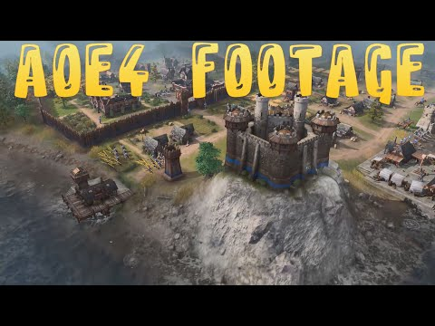 (New) Age of empires 4 🔥 game footage from dark to imperial age