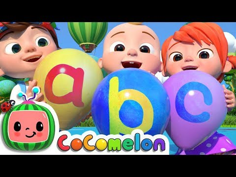 (VFHD Online) Abc song with balloons   cocomelon nursery rhymes e kids songs