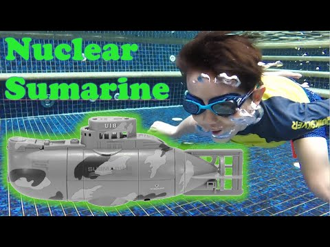(HD) Unbox and play nuclear submarine rc remote controlled diving toy | daddy e son time!