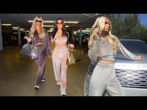 (New) Paris hilton e kim kardashian reunited in velour tracksuits for new skims campaign