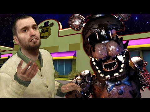 (New) I became burnt freddy e hunted down my friends! - garrys mod fnaf multiplayer (gmod pill pack)