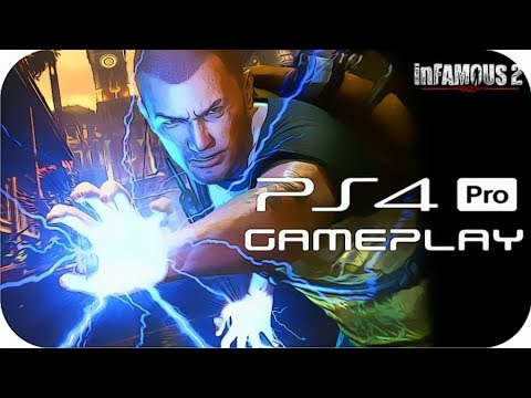 (New) Infamous 2 ps4 pro gameplay [ps now]
