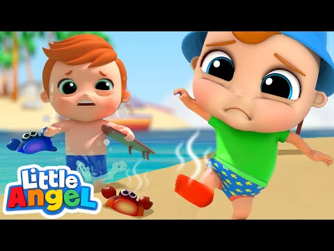 (Ver Filmes) Hot and cold on the beach   opposites song   little angel kids songs