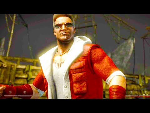(New) Mortal kombat xl - santa claus johnny cage costume skin mod performs intros on all stages 4k mods