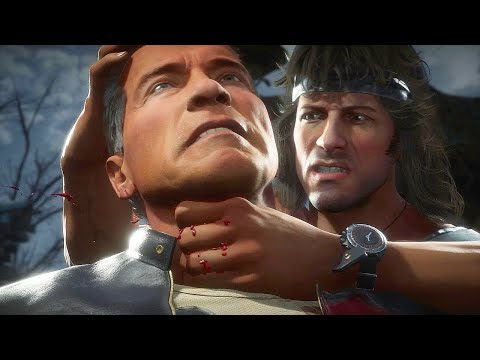 (New) Mk11 rambo vs terminator gameplay mortal kombat 11 4k 60fps