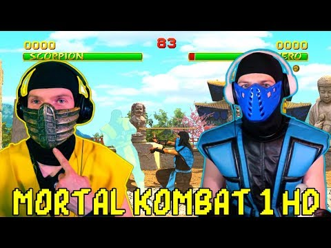 (New) Scorpion e sub-zero play - mortal kombat 1 hd remake! | mk1 gameplay parody!