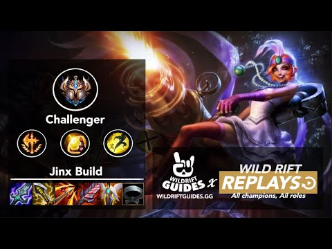 (VFHD Online) Wild rift jinx rank 1 challenger ranked gameplay