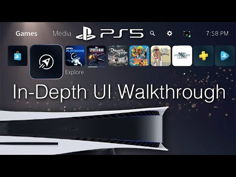 (New) Playstation 5 ui walkthrough (60fps) - ps store, ps plus, ps now, settings, etc.