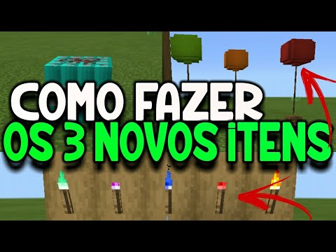(New) Como fazer as novas tochas, balões e tnt do minecraft pe 1.2.20! minecraft pocket edition 1.3!