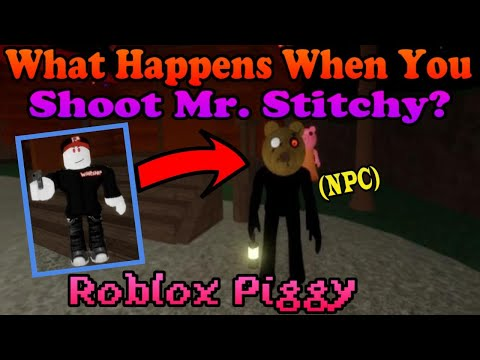 (HD) What happens when stitchy is shot? roblox piggy halloween