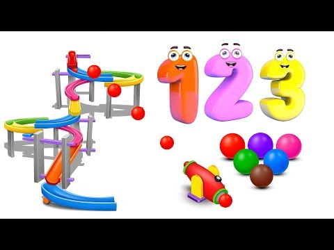 (Ver Filmes) Learn numbers with marble maze run and color balls - numbers videos collection